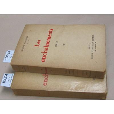 Barbusse henri : Les enchainements. tome 1 & 2...