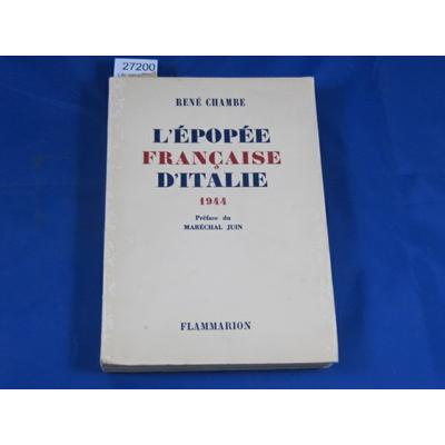 chambe : L'épopée Française d'Italie 1944...
