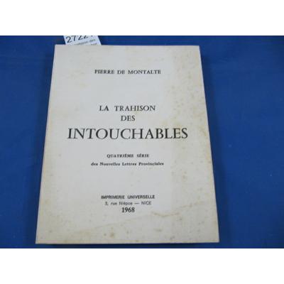 Montalte : La trahison des intouchables 4eme série...
