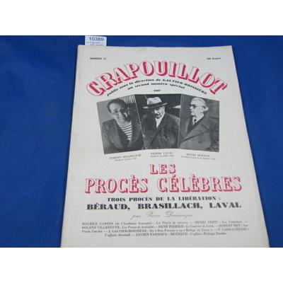 collectif : Le Crapouillot, n 31 - 1955. Numéro spécial: Les procès célèbres. Trois procès de la libération: H