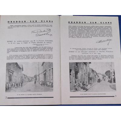 collectif : Le massacre d'Oradour Sur-Glane par les hordes hitlériennes ...