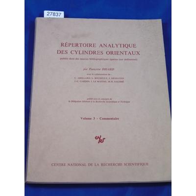 digard : Répertoire analytique des cylindres orientaux, publiés dans des sources bibliographiques éparses (sur