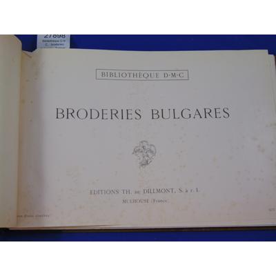 collectif : Bibliothèque D.M.C. : broderies bulgares - Turques -Motifs pour broderies (IVeme série) - Point de