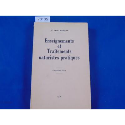Carton Paul : enseignements et Traitements naturistes pratiques. 5eme série...