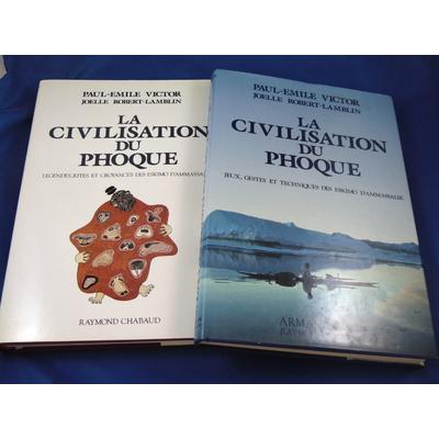 Victor Paul-Emile : La civilisation des phoques. tome 1 et 2 . légendes, rites et croyances des Eskimo d'Ammas