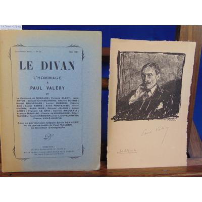 Collectif  : Le Divan N°79 mai 1922: hommage à Paul Valéry...