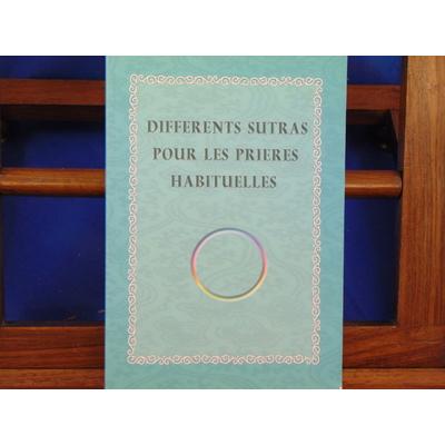 collectif  : Différents Sutras pour les prières habituelles...