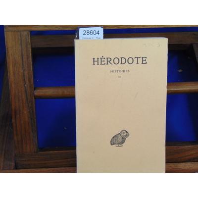 Hérodote  : Histoires III  : Thalie...