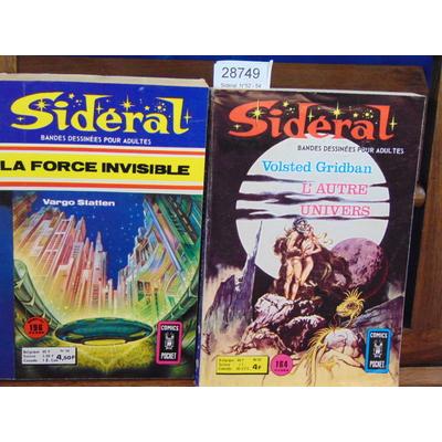collectif  : Sidéral. N°52 - 54 . bandes dessinées ...