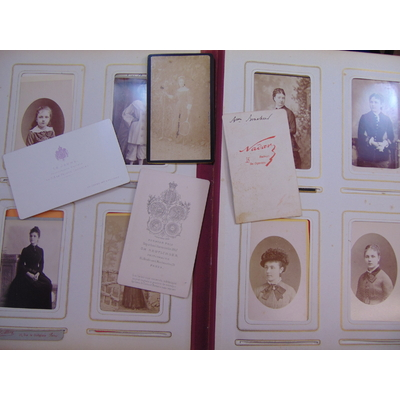 Collectif  : Lot de 142 photographies portrait XIXe (par Nadar et divers )...