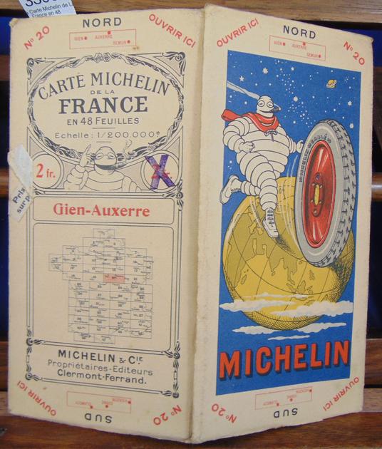 Carte De Bourgogne Michelin.Carte Michelin De La France En 48 Feuilles Gien Auxerre D 901
