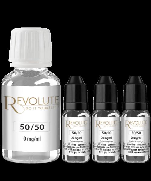 Pack Base Revolute 100ml avec nicotine en 2, 4, 6 ou 12 mg/ml