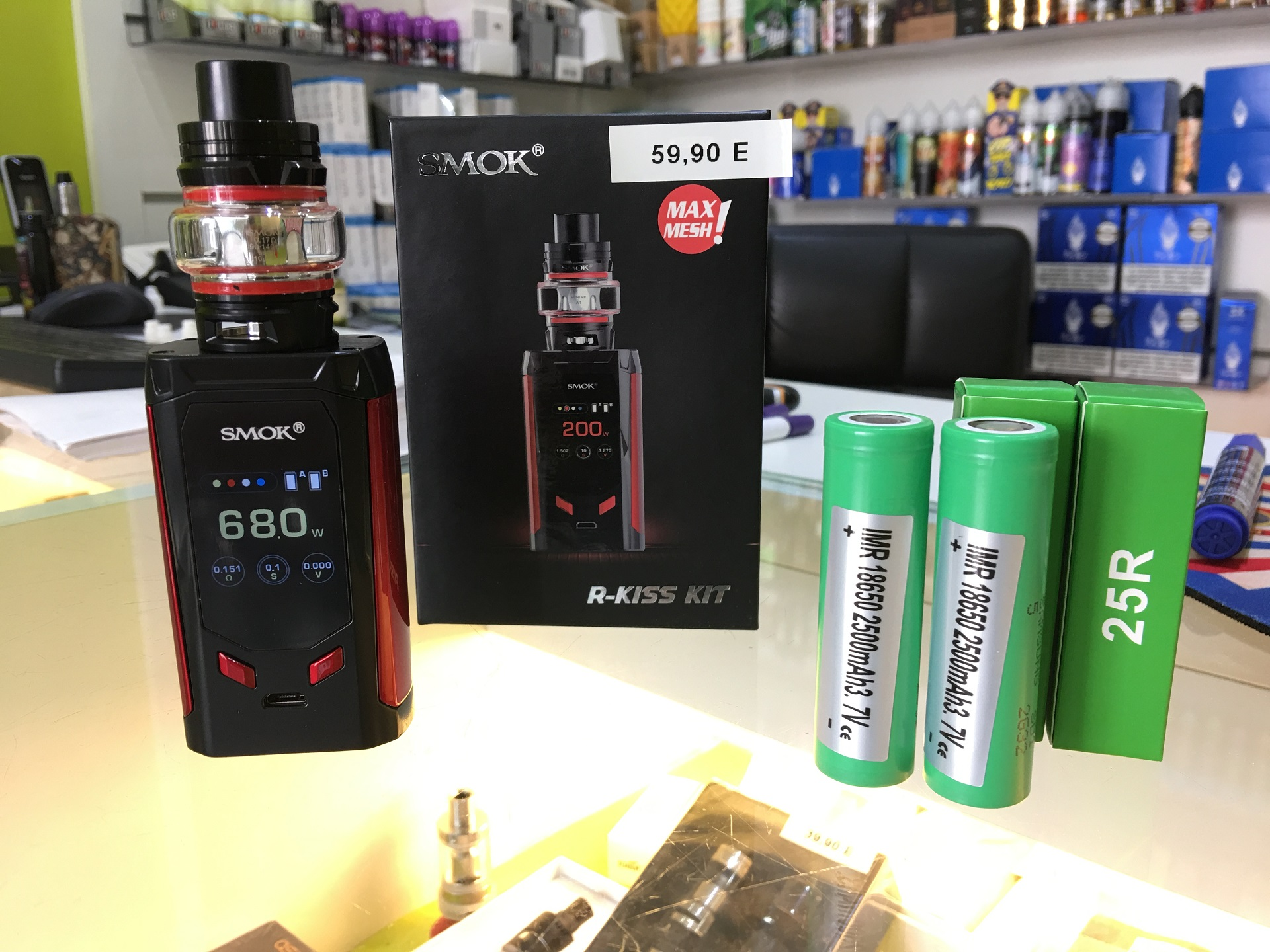 Pack R-Kiss Smok + 2 Accus