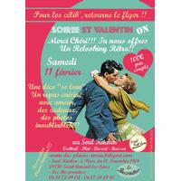 SOIREE ST VALENTIN ON SPECIALE COUPLE SAMEDI 11 FEVRIER