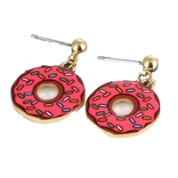 Boucles donut rose
