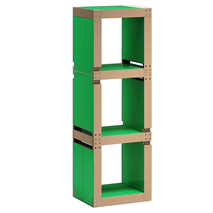 etag re de bureau design verte structure noire ou bois. Black Bedroom Furniture Sets. Home Design Ideas