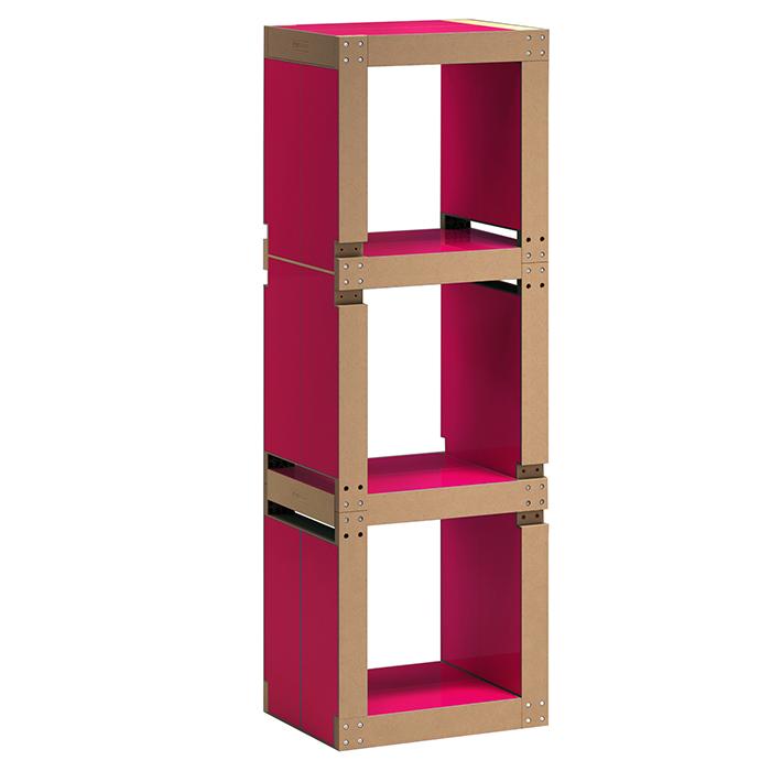 etag re de bureau design rouge framboise structure noire ou bois. Black Bedroom Furniture Sets. Home Design Ideas