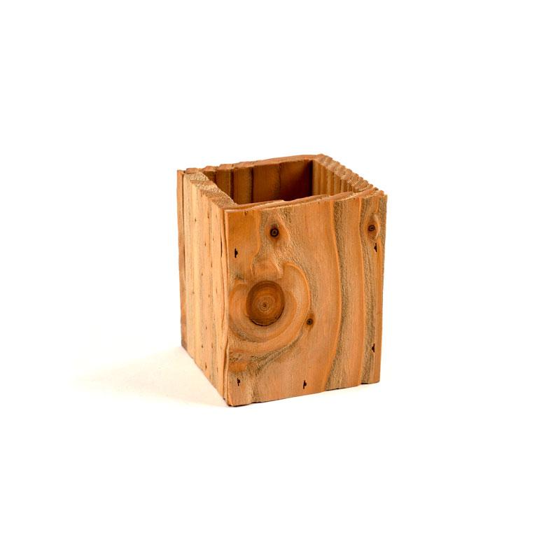 Pot crayon en bois brut for Bureau en bois brut