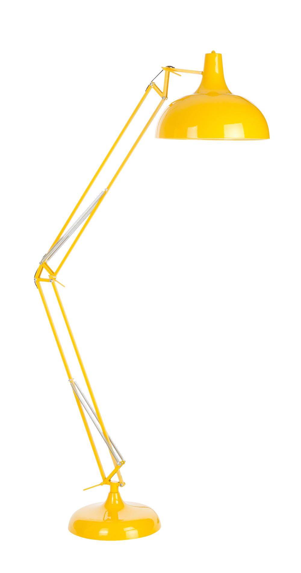 lampadaire de bureau jaune grande lampe de bureau jaune. Black Bedroom Furniture Sets. Home Design Ideas