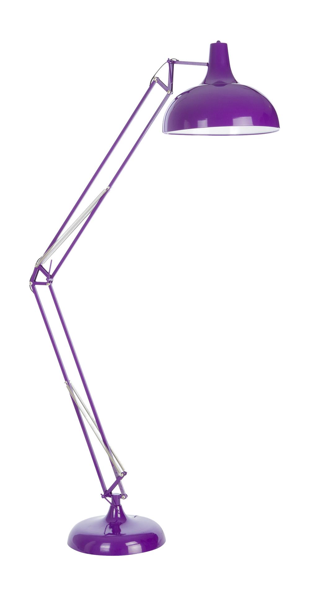 Lampadaire de bureau violet grande lampe violette - Lampadaire de bureau ...