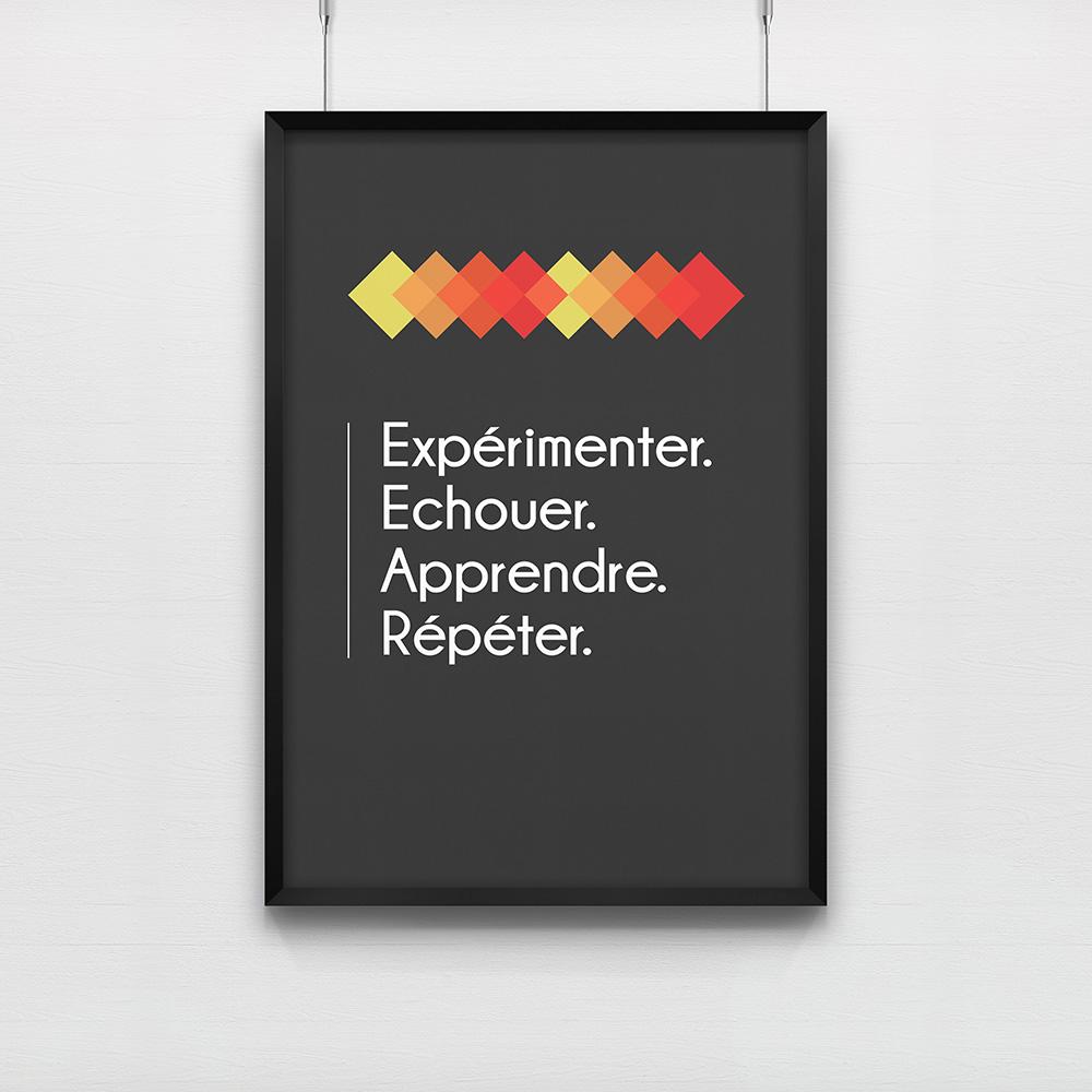 Poster Expérimenter Echouer Apprendre Répéter