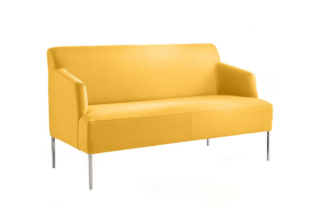 Canap jaune pour accueil bureau espace d tente for Canape jaune