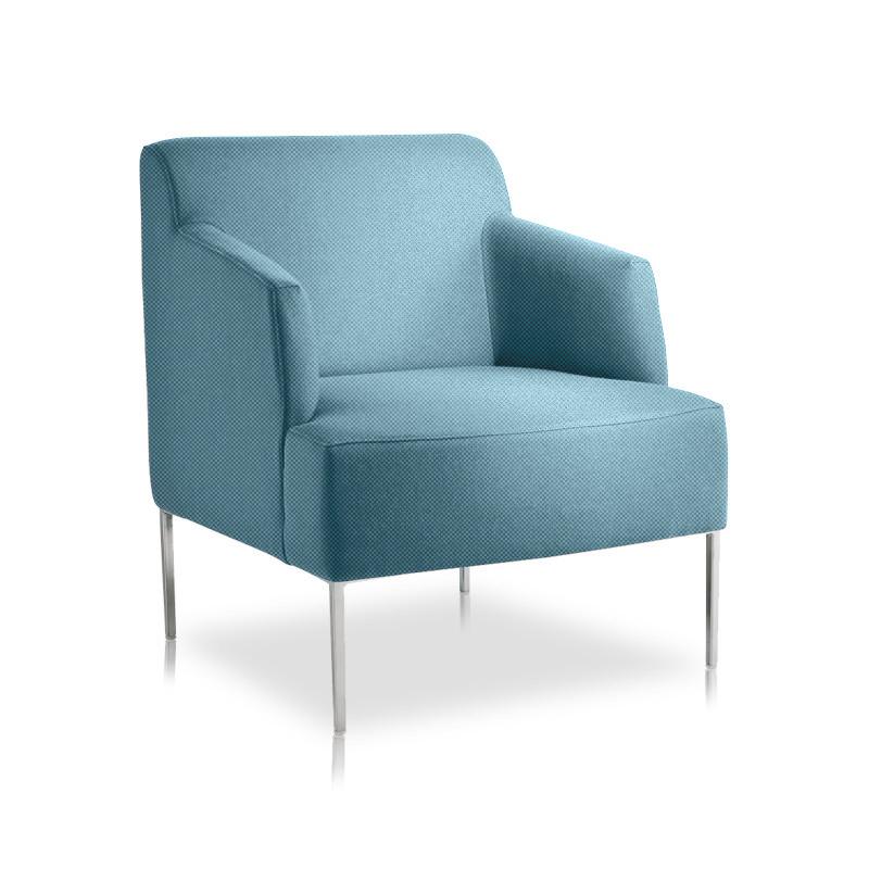 si ge d 39 accueil bleu ciel chauffeuse 1 place pour bureaux. Black Bedroom Furniture Sets. Home Design Ideas