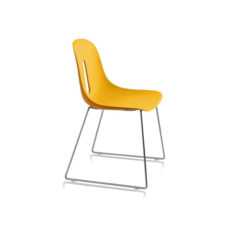 Chaise empilable jaune pour salle de r union conf rence for Chaise de bureau jaune