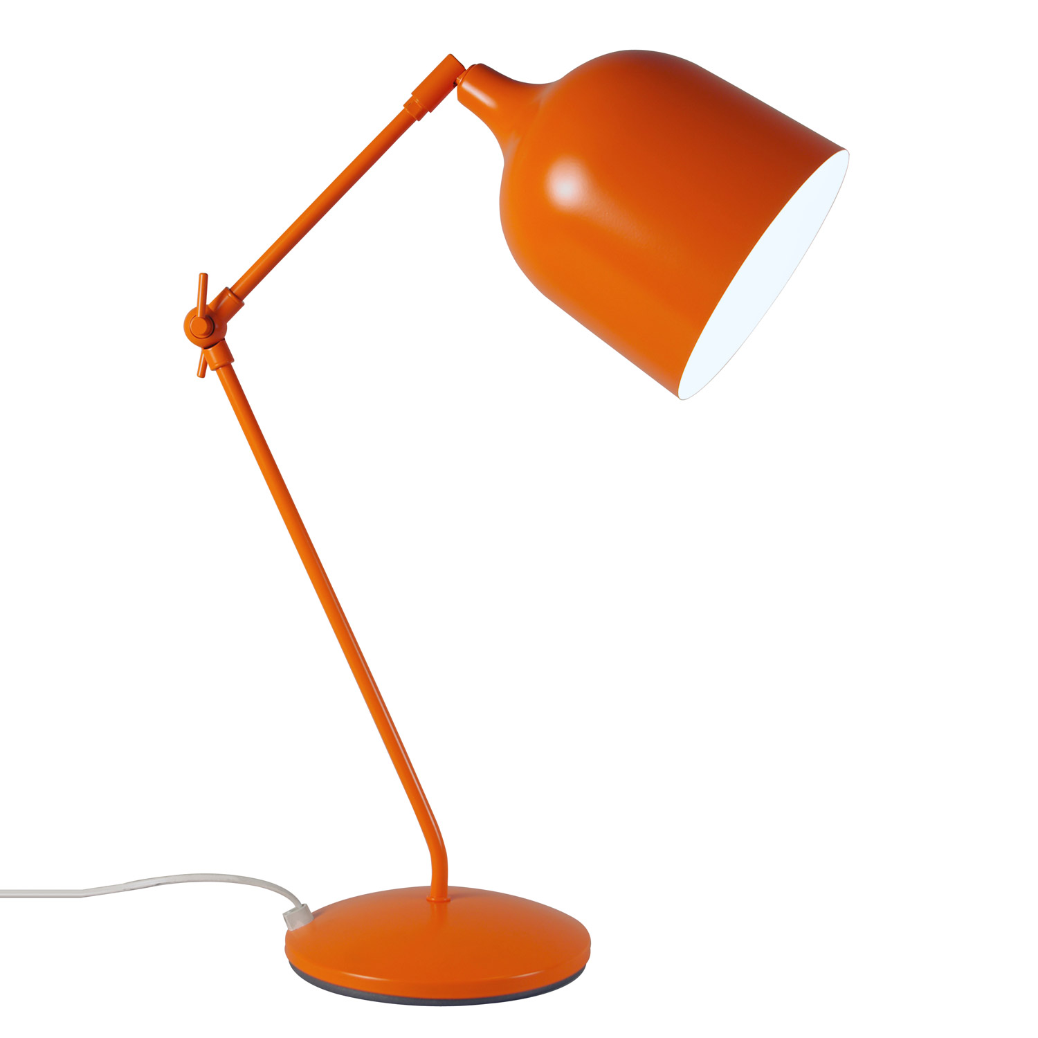 Lampe de bureau architecte orange for Lampe bureau architecte