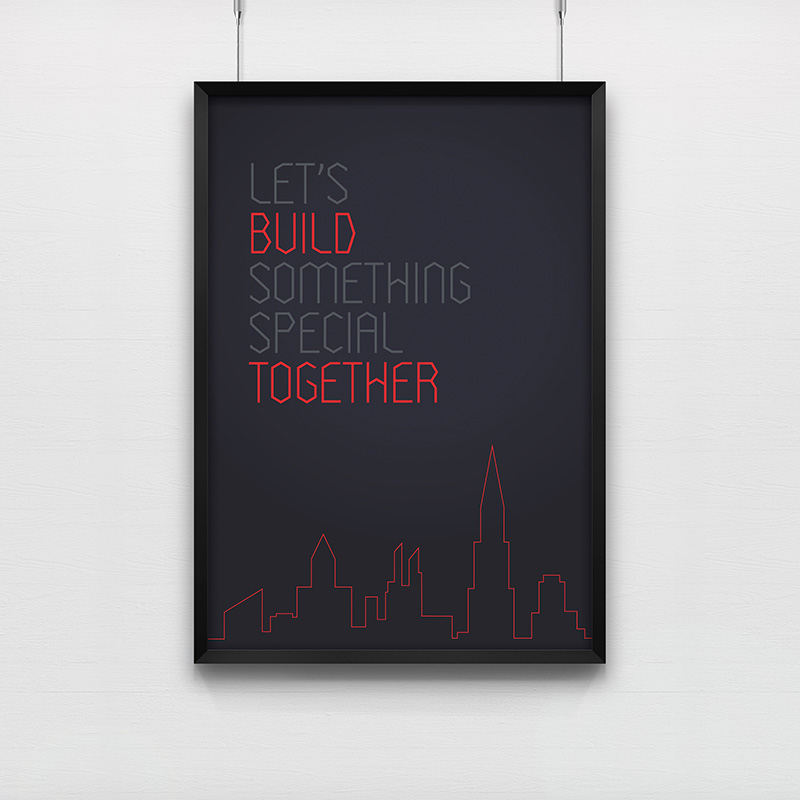 Poster Let\'s Build Something Special Together