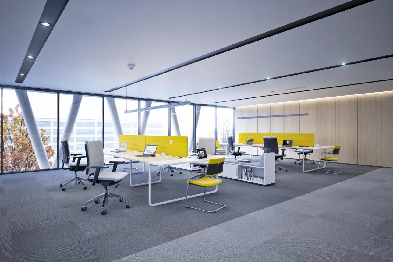 Bureau bench design pour openspace 2 4 ou 6 postes for Bureau 4 places