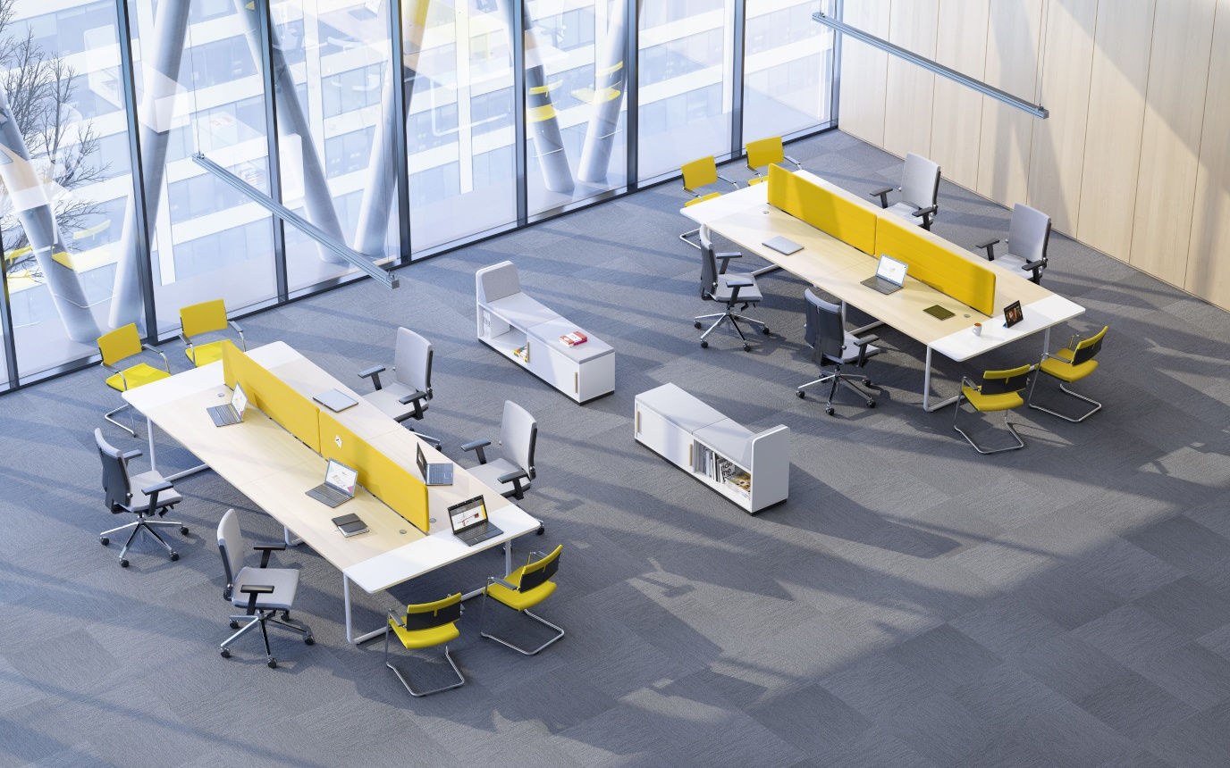 Bureau bench design 6 personnes Play&Work