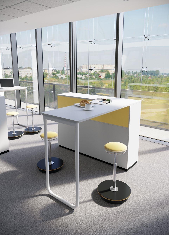 Table haute avec son module de rangement