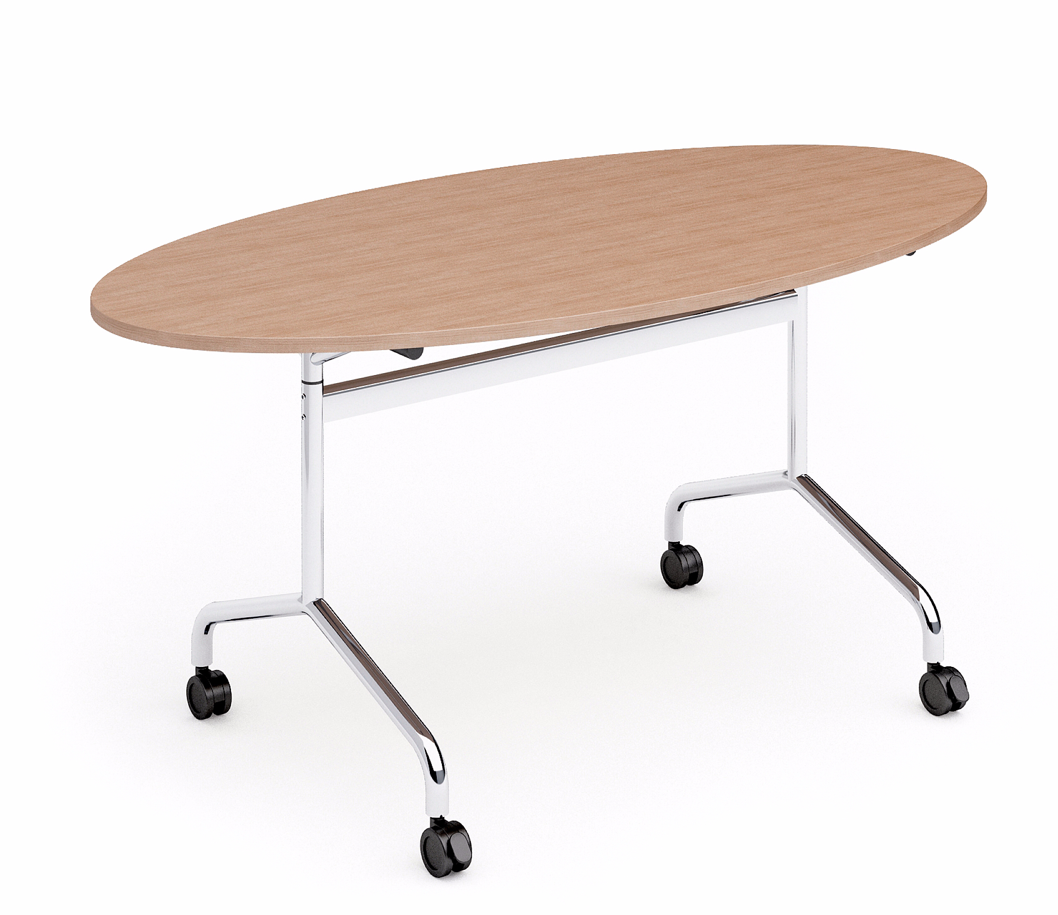 Table de réunion ovale pliable Flib