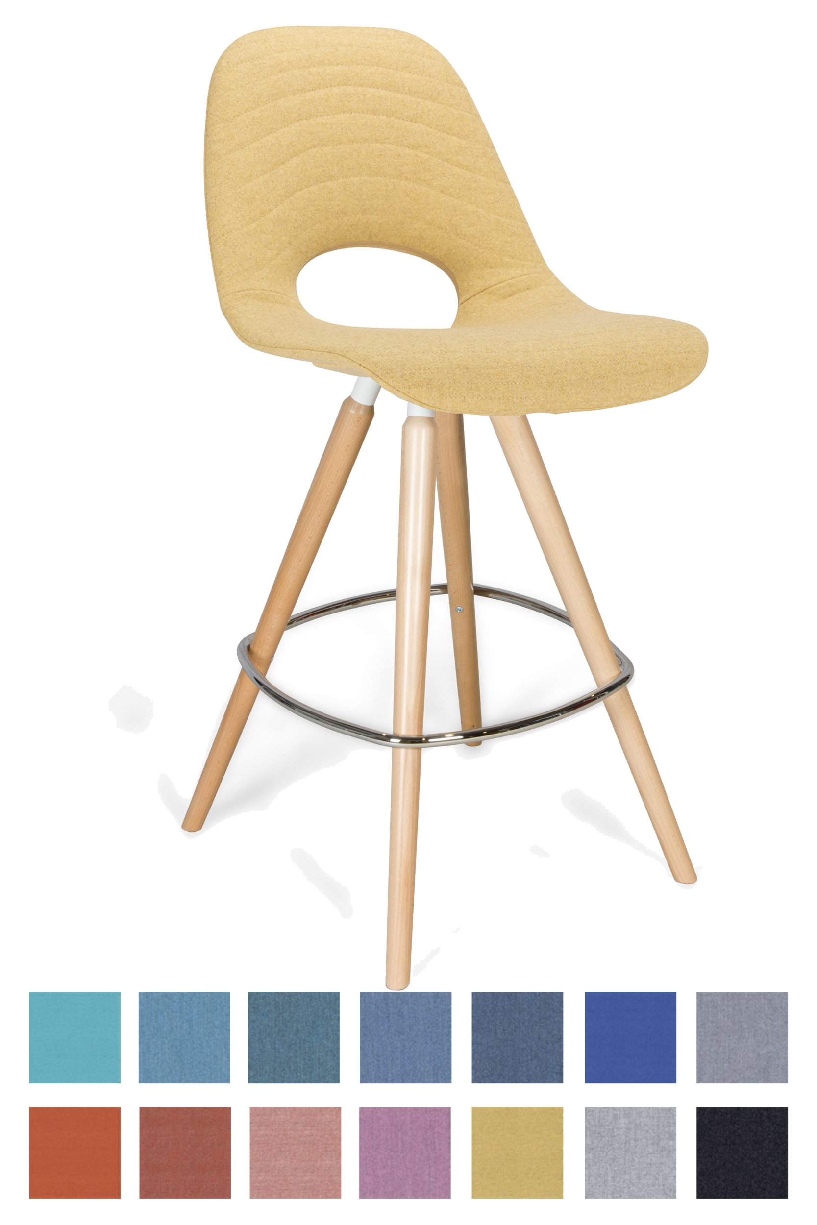 Chaise haute Tauko tapissée
