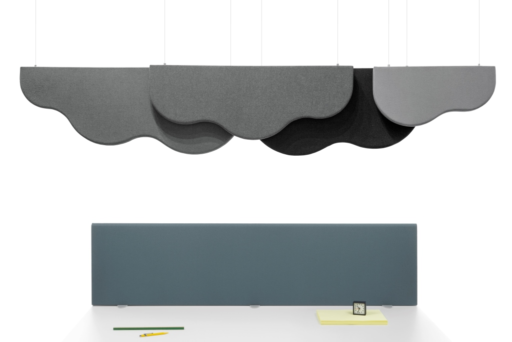 panneau acoustique suspendu pour plafond de bureau. Black Bedroom Furniture Sets. Home Design Ideas