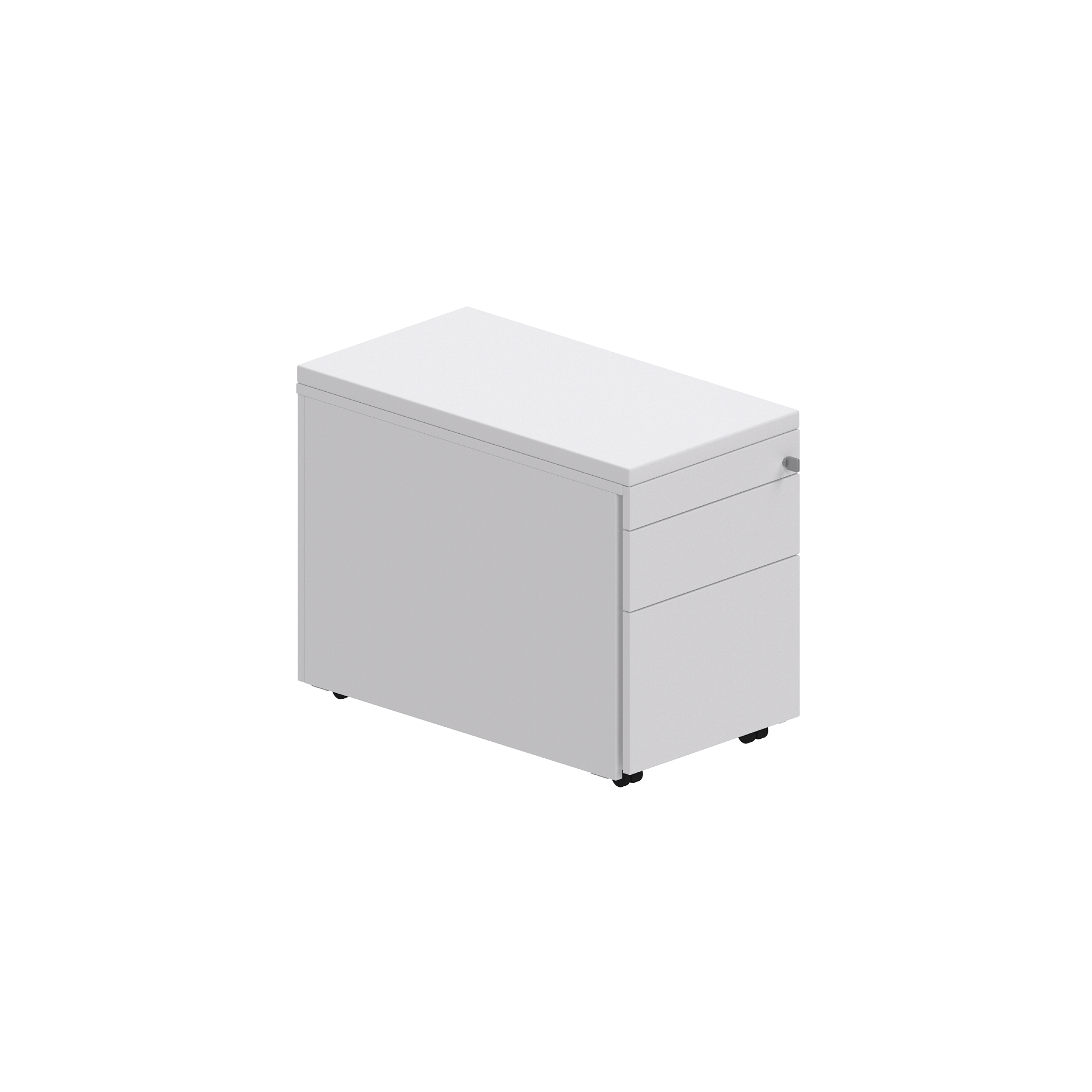 Armoire blanche simple à clé