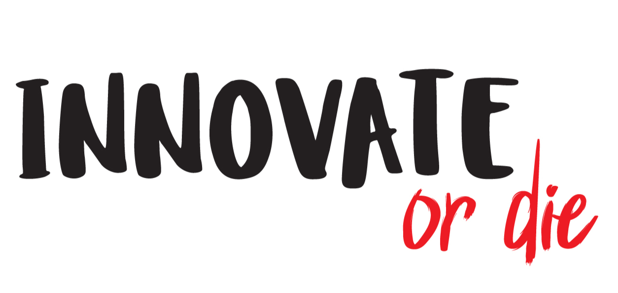 Stickers Innovate or Die pour bureau