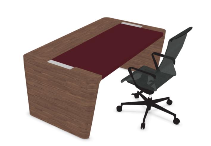 Bureau de direction bois et cuir mobilier de bureau kollori