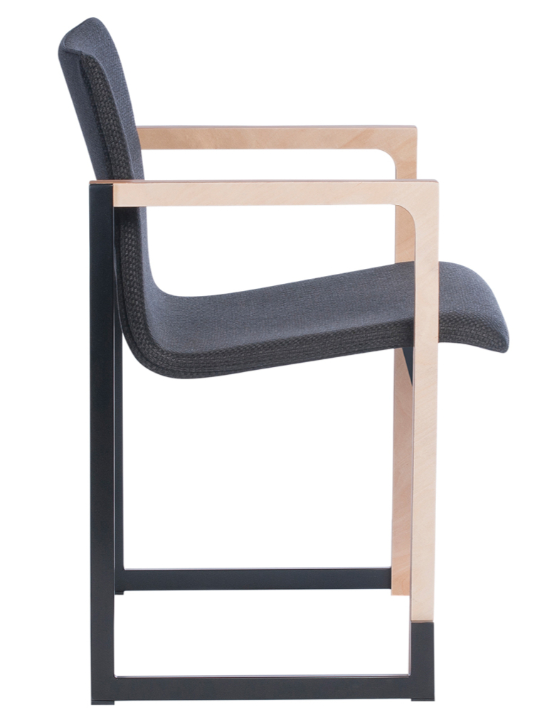 fauteuil de r union design et empilable m tal et bois. Black Bedroom Furniture Sets. Home Design Ideas