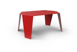 ... Table Basse Rouge ...