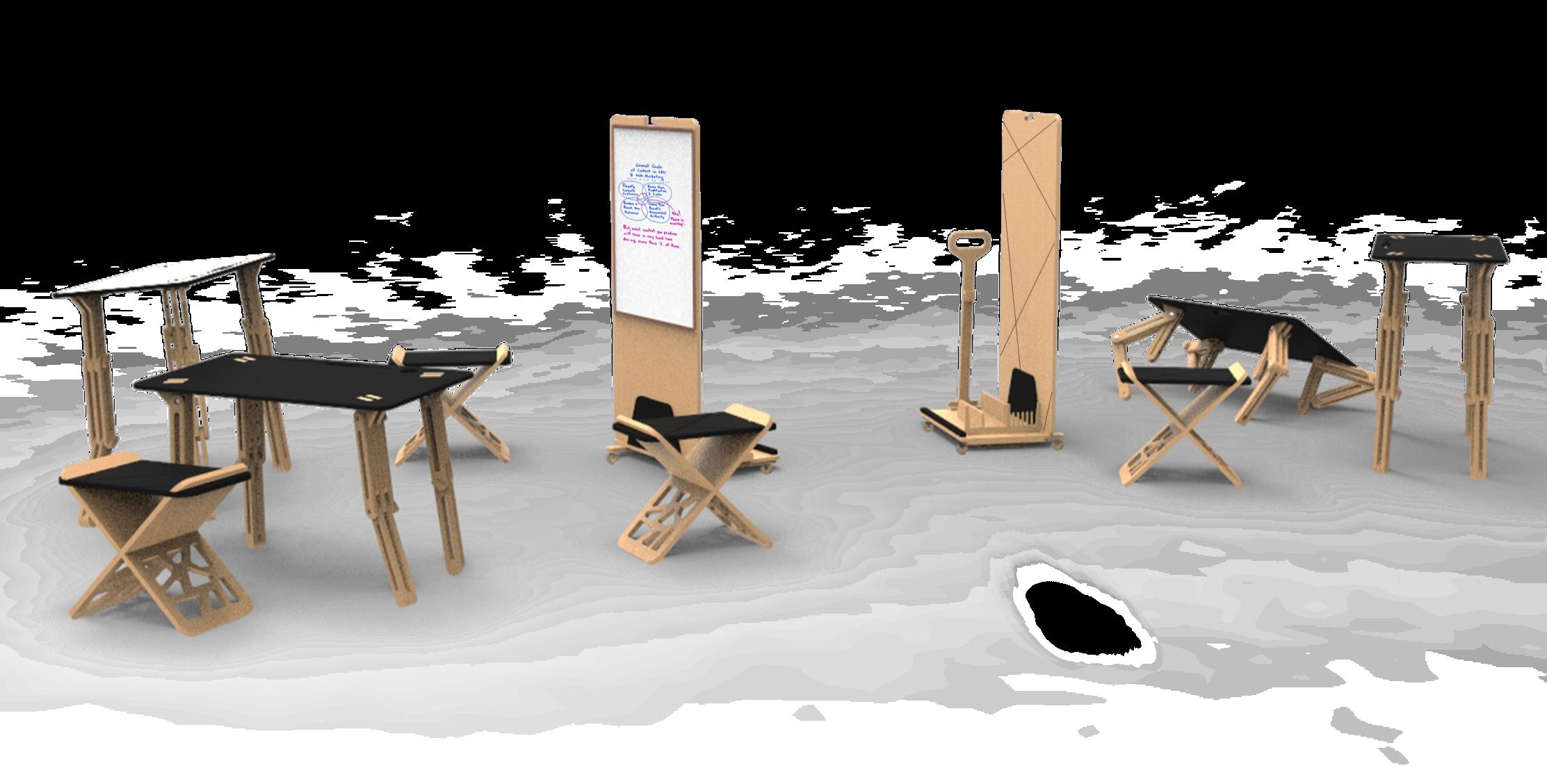 Kit mobile de réunion brainstorming et créativité Nomad