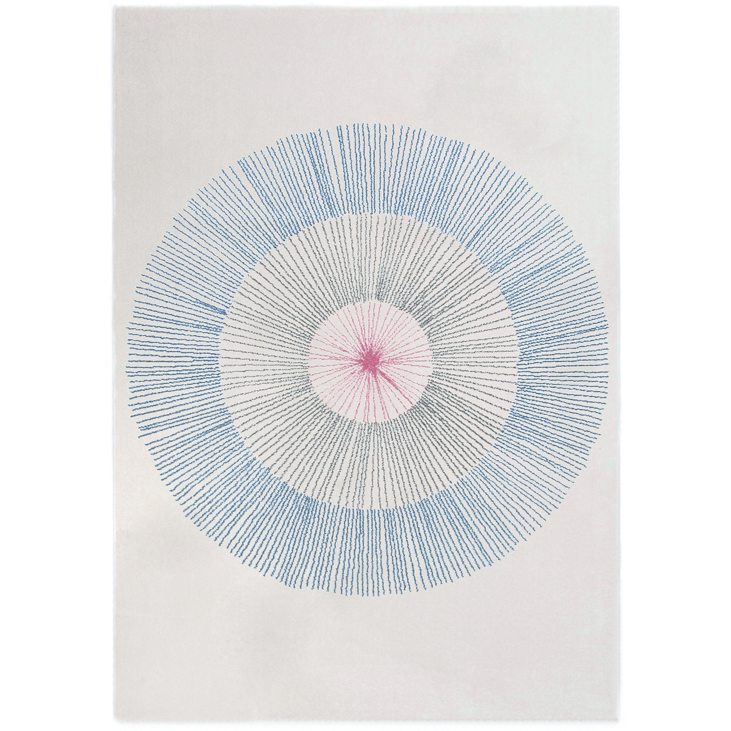 Tapis design pissenlit bleu
