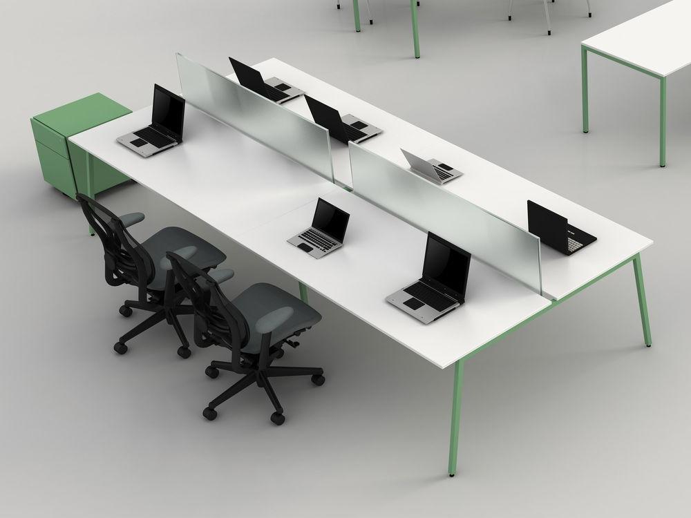 Bureau bench coloré 4 personnes