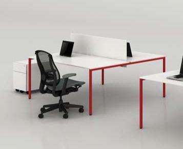 bureau bench coloré 2 personnes