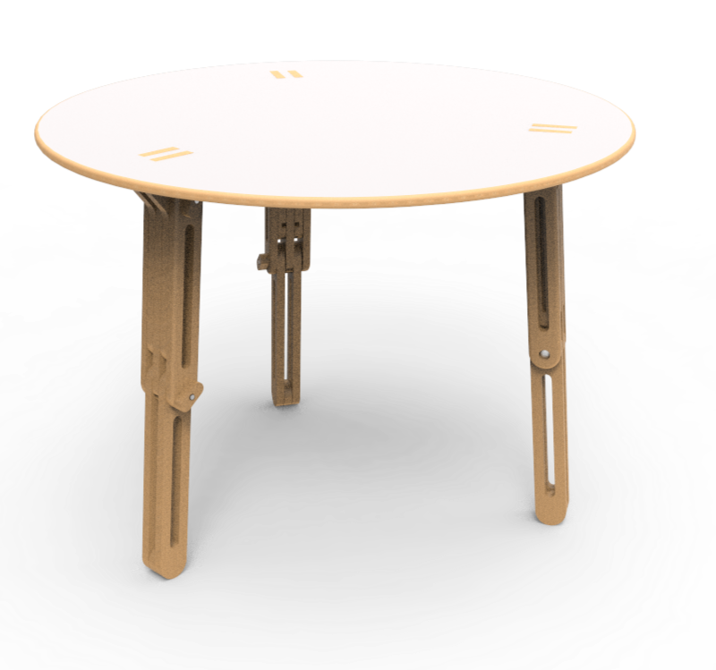 table modulable ronde tables tables hautes. Black Bedroom Furniture Sets. Home Design Ideas