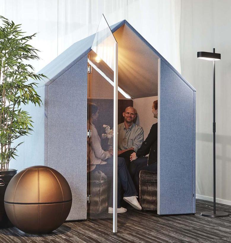 Cabine acoustique fermée La hutte