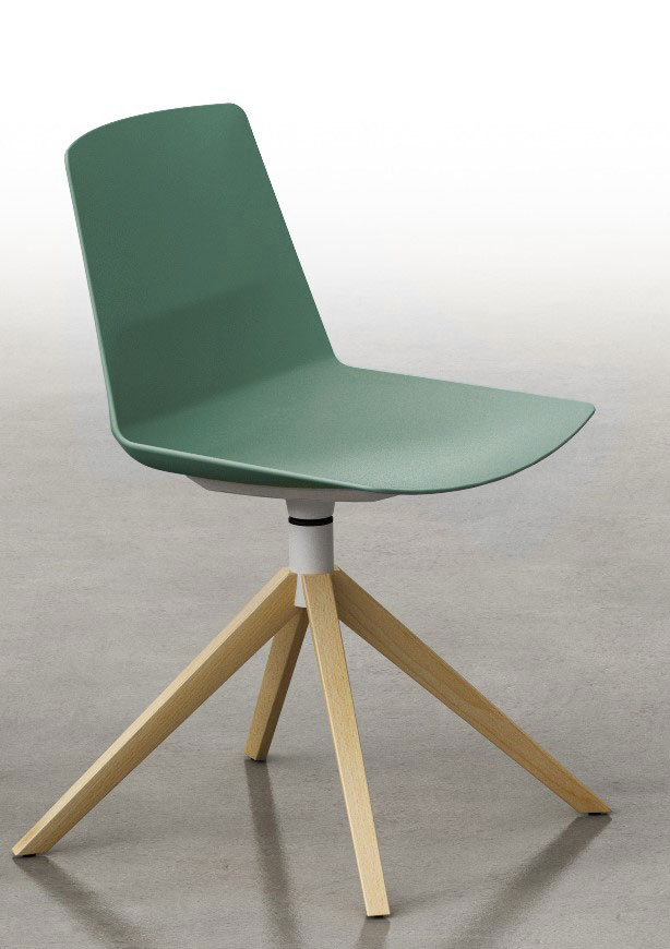 Chaise pieds bois Clue