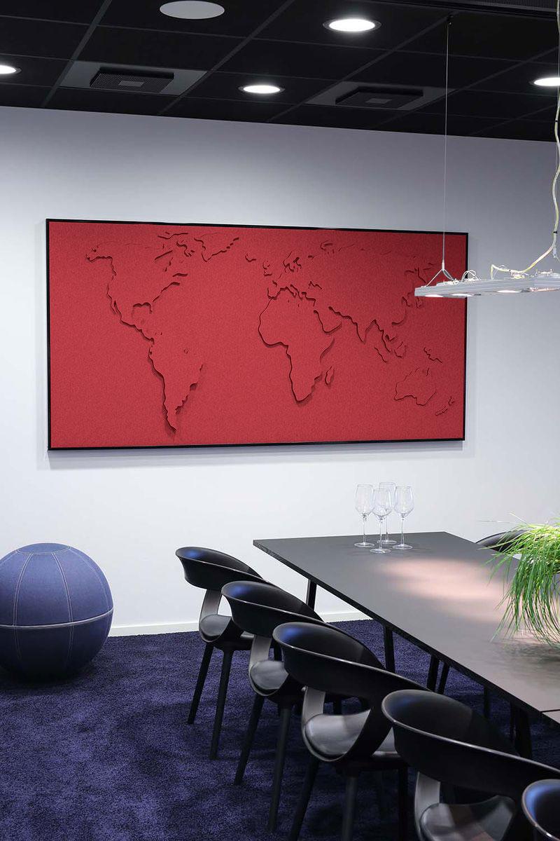carte du monde design et acoustique pour bureau d. Black Bedroom Furniture Sets. Home Design Ideas