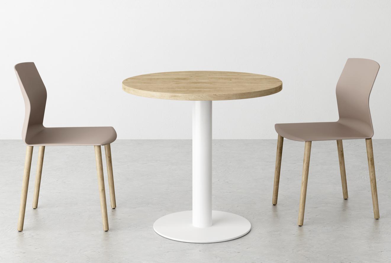 Chaise polypropylène et pieds bois Kabi